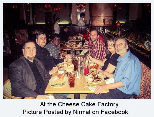 Apologetics Dinner at the Cheese Cake Factory